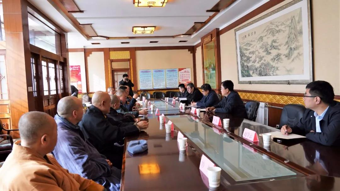忻州市委常委、统战部长张文伟在五台山调研