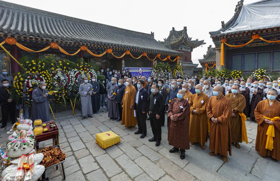悲明老和尚追思法会在五台山龙泉寺举行